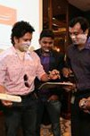 sachin giving autograph to mohit
